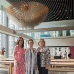 Claudia Freed, Coporate Responsibility Group of Chicago Board Member, Cheryl Hughes, Director of Strategic Initiatives at The Chicago Community Trust, and Colleen Coughlin, Executive Director of the CR Group pause for a moment before this beautiful space at Morningstar, Inc. who hosted this exciting meeting was filled with conversation groups.